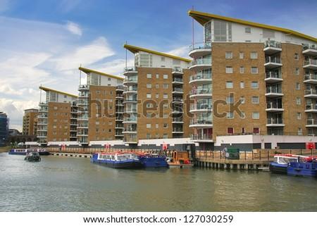 London limehouse buildings - stock photo