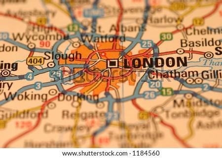 London map - stock photo
