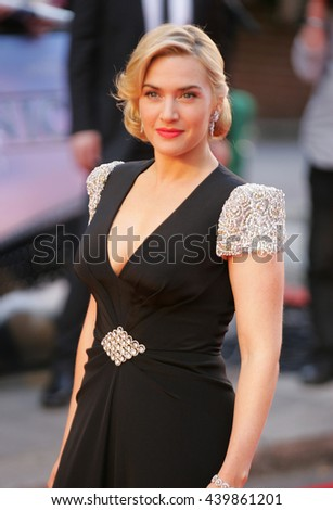 LONDON - MAR 27, 2012: Kate Winslet attends the Titanic 3D - World Premiere at the Royal Albert Hall on Mar 27, 2012 in London  - stock photo