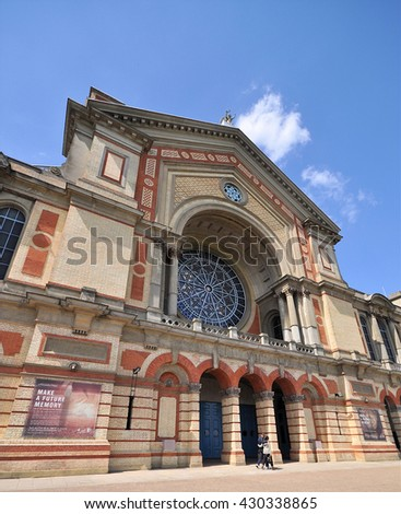 LONDON - MAY 15, 2016. Alexandra Palace, a historic entertainment, exhibition and events venue dating from 1873, informally known as Ally Pally, located in north London, UK. - stock photo