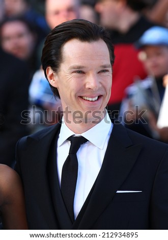 LONDON - MAY 02: Benedict Cumberbatch attends the UK Premiere of 'Star Trek Into Darkness' at The Empire Cinema on May 02, 2013 in London - stock photo