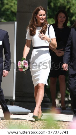 LONDON - MAY 10, 2014: Catherine, Duchess of Cambridge visit to the National Maritime Museum on May 10, 2015 in London - stock photo