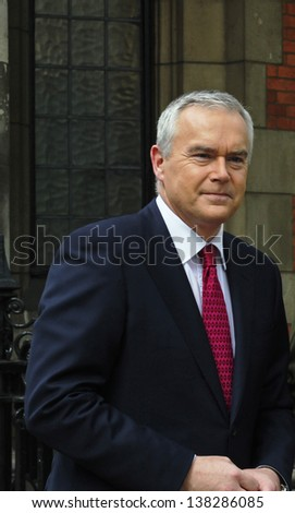 LONDON -MAY 8: Huw Edwards poses during State Opening of Parliament on May 8, 2013 in London.
