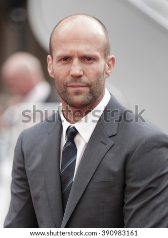 LONDON - MAY 27, 2015: Jason Statham attends The European premiere of SPY at the Odeon Cinema, Leicester Square on May 27, 2015 in London - stock photo