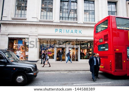 Primark store in London on May 21, 2013. Primark is an Irish clothing