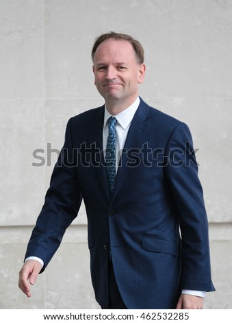 LONDON - MAY 22, 2016: Simon Stevens chief executive of NHS seen attending the Andrew Marr show at the BBC studios on May 22, 2016 in London