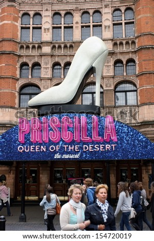 LONDON - MAY 14TH: Priscilla Queen of the Desert at the Palace Theatre in London on May 14th, 2011. Audience attendance numbers for West End theatres were just under fourteen million in 2012 - stock photo