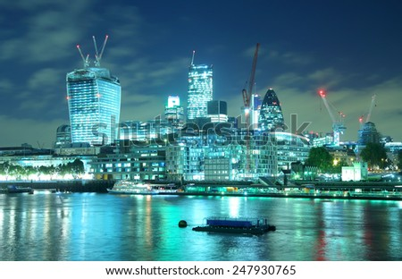 london night - stock photo