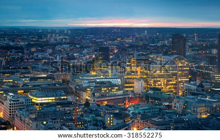 London, night panorama. - stock photo