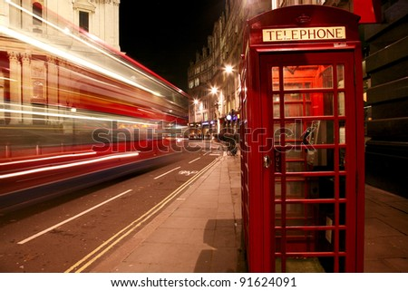 London Night View - stock photo