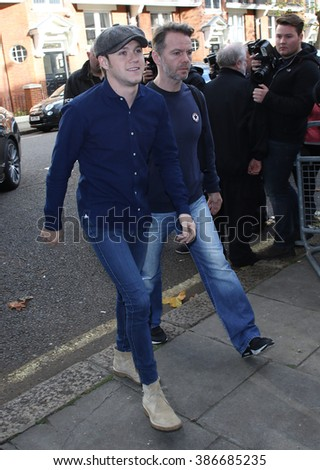 LONDON - NOV 12, 2015: Niall Horan seen at BBC Maida Vale Studios after the Live Lounge on Nov 12, 2015 in London