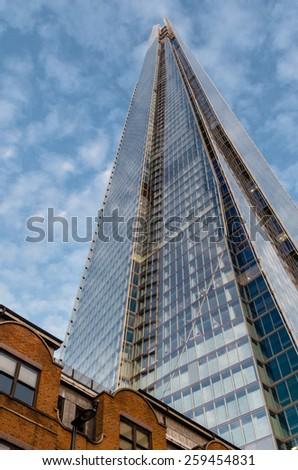 LONDON - November 29 : the shard  is an 87-storey skyscraper in Southwark, 29 November 2014 LONDON.UK - stock photo