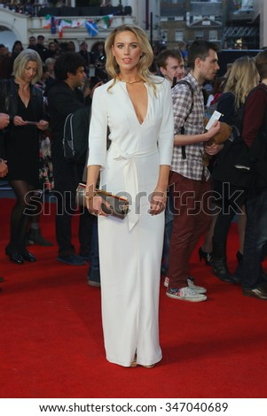 LONDON - OCT 9, 2015: Alexandra Weaver attends the High-Rise premiere at the 59th BFI London Film Festival on Oct 9, 2015 in London