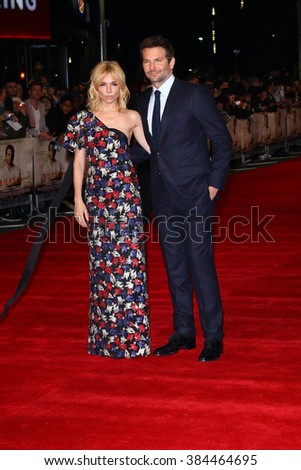 LONDON - 28, OCT 2015: Bradley Cooper and Sienna Miller attend Burnt film premiere on Oct 28, 2015 in London