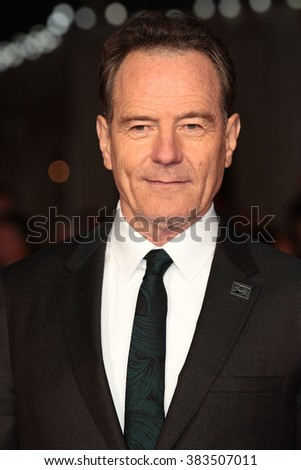 LONDON - OCT 8, 2015: Bryan Cranston attends a screening of Trumbo during the BFI London Film Festival at Odeon Leicester Square on Oct 8, 2015: in London