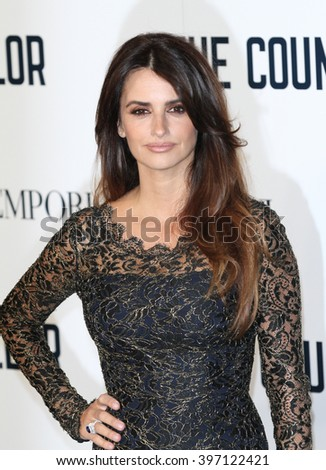 LONDON - OCT 3, 2013: Penelope Cruz attends a special screening of The Counselor at the Odeon West End on Oct 3, 2013 in London - stock photo