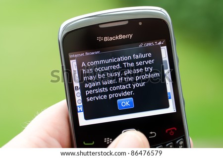 LONDON - OCTOBER 12: Blackberry customers across the UK face third day of no internet or instant messaging access on their mobile devices October 12, 2011 London, England.