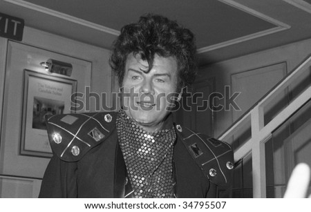 LONDON-OCTOBER 18: Gary Glitter, British pop star, attends a celebrity event on October 18, 1990 in London. Real name Paul Gadd, he was jailed in Vietnam in 2005 for sex offences.