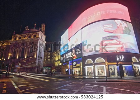 London, October 23, 2016 - The illuminations at Piccadilly Circus are due to be replaced with an all new sign after the refurbishment of Eros.