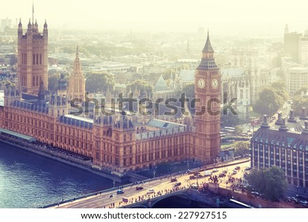 London - Palace of Westminster, UK - stock photo