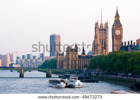 London panorama - stock photo