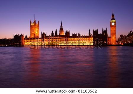 London Parliament - stock photo
