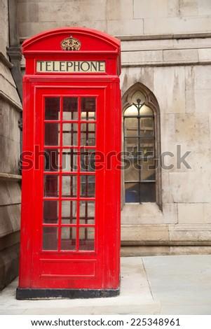 London phone box. - stock photo