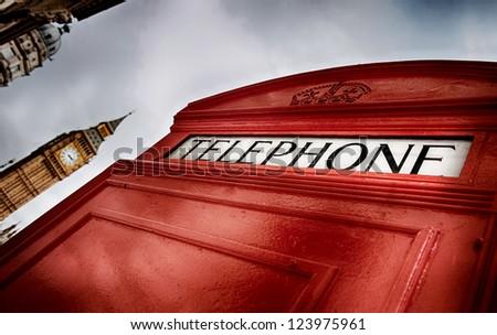London phone box HDR - stock photo