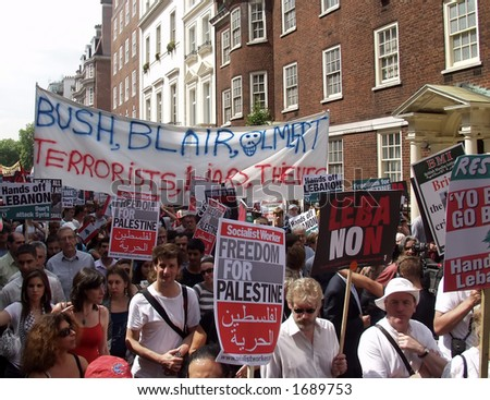 London Protest March - 5th August 2006 - stock photo