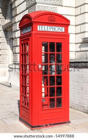 London red telephone box - stock photo