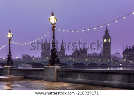 London river bank - stock photo