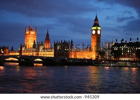 London Riverfront - stock photo