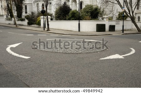 london roundabout - stock photo