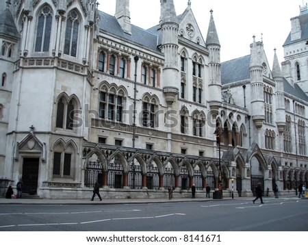 London - Royal Courts of Justice - stock photo