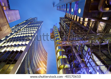 London's financial district skyline - stock photo