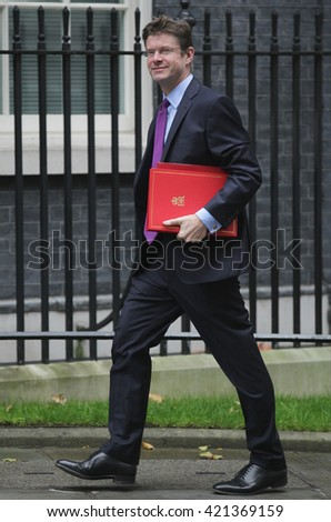 LONDON - SEP 15, 2015: Greg Clark CBE MP, Secretary of State for Communities seen attending the cabinet meeting in Downing Street on Sep 15, 2015 in London