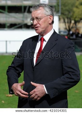 LONDON - SEP 14, 2015: Hilary Benn Labour Shadow Foreign Secretary seen in Westminster on Sep 14, 2015 in London