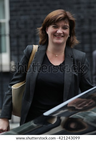 LONDON - SEP 15, 2015: Nicky Morgan MP, Secretary of State for Education and Minister for Women and Equalities, seen in Downing Street on Sep 15, 2015 in London