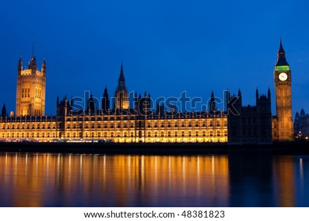 London series 14. House of Parliament and Big Ben in London - stock photo