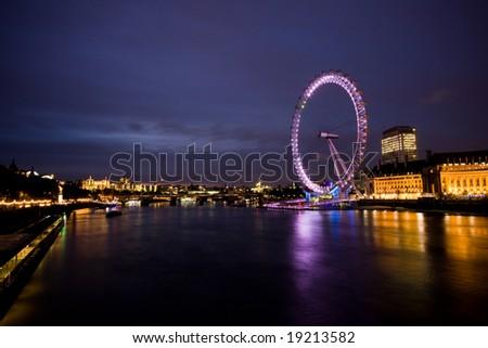 London series 2. London Eye - stock photo