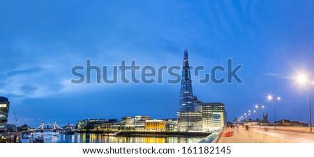 London skyline at Dawn - stock photo