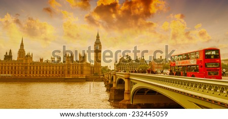 London skyline, England. - stock photo