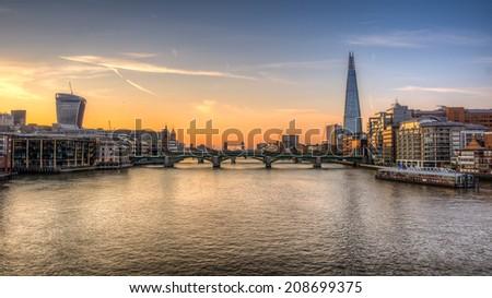 London Skyline HDR - stock photo