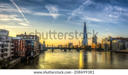London Skyline HDR - stock photo