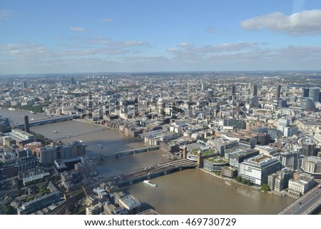 London Skyline - Thames River