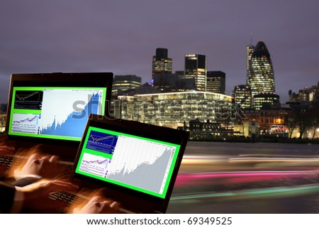 London Stock-exchange, UK - stock photo