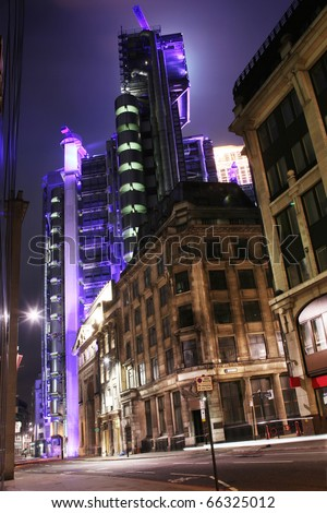 london street at night - stock photo