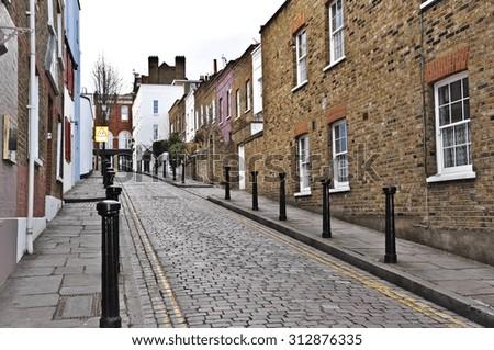 London street in London - stock photo