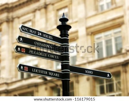 London Street Signpost - stock photo
