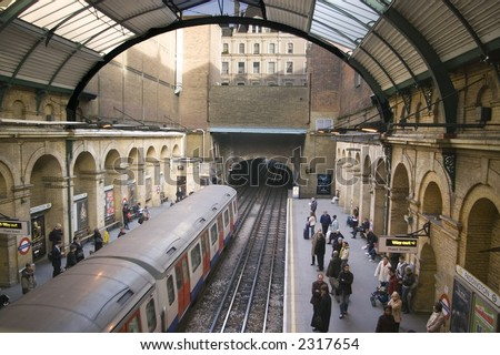 London Subway - stock photo
